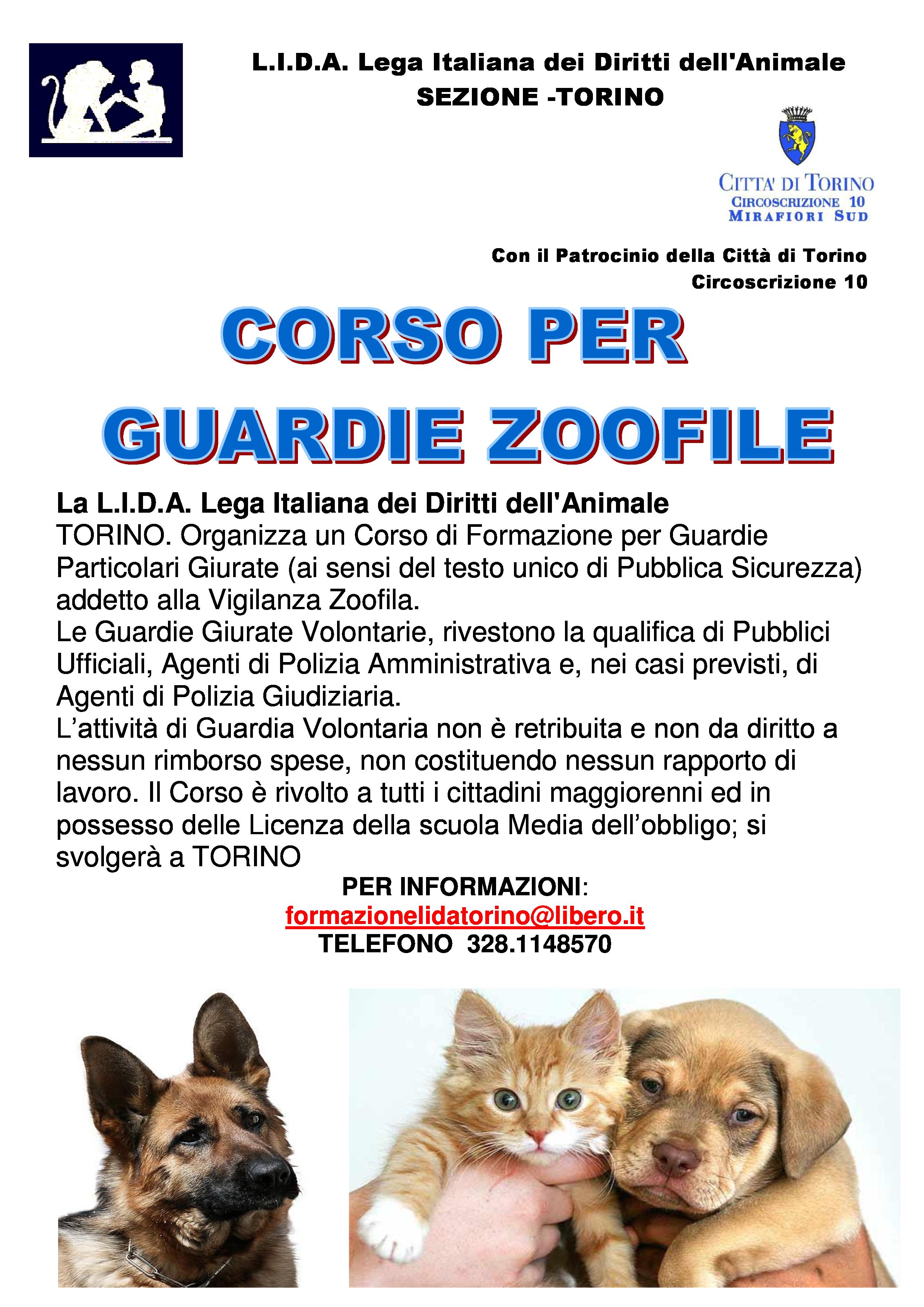 Corso GUARDIE ZOOFILE LIDA